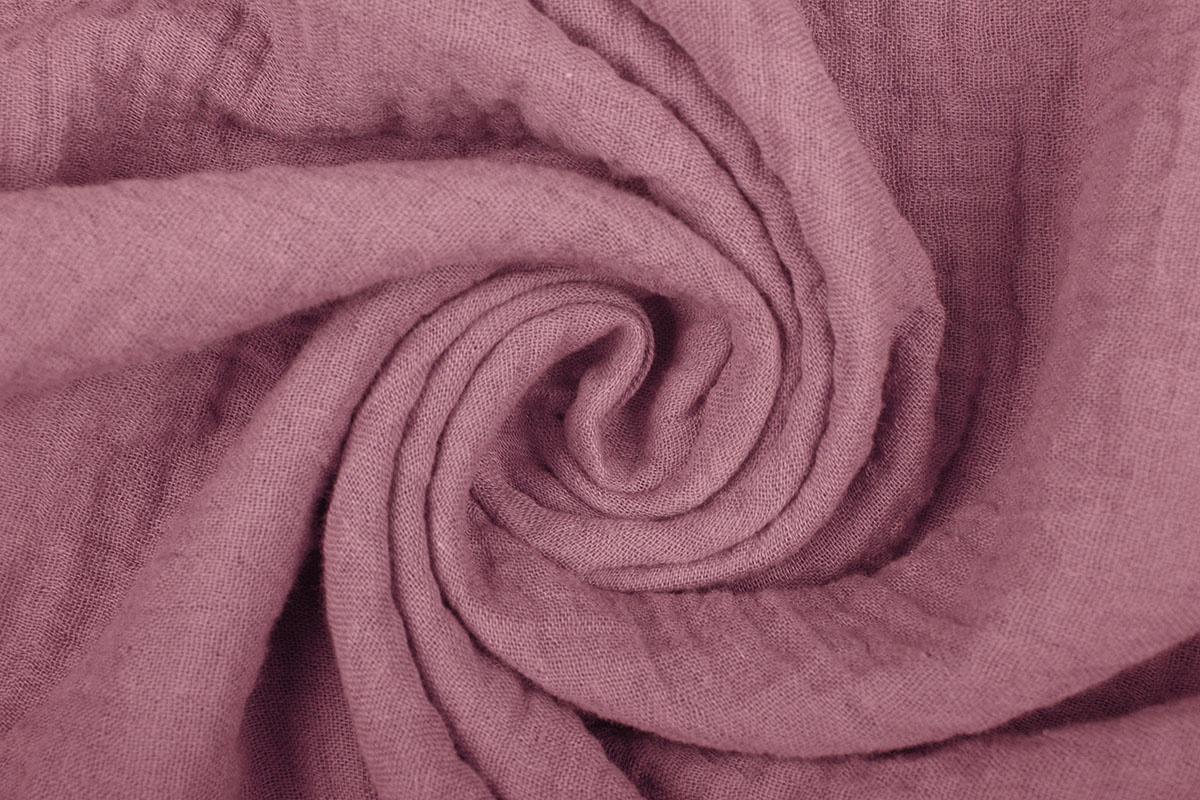 Baumwoll Musselin Stoff Dunkel Altes Rosa