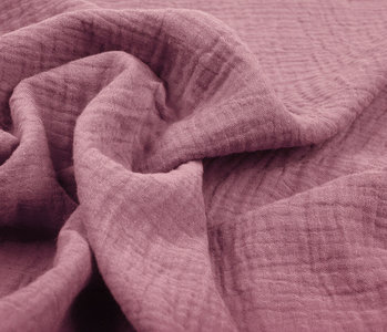 Double Gauze Fabric Dark Old pink