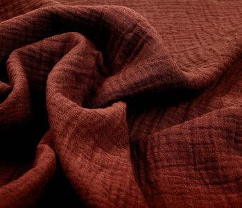 Baumwoll Musselin Stoff Rost Brique