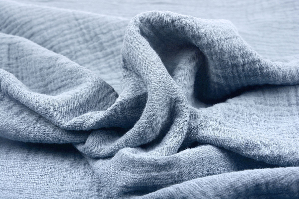 Baumwoll Musselin Stoff Leichte Jeans
