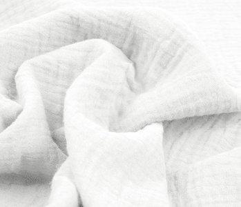 Baumwoll Musselin Stoff Weiß