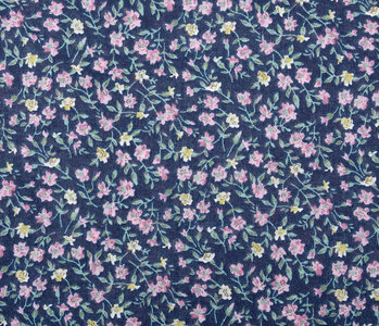 100% Cotton Floral Print  Floflo Blue