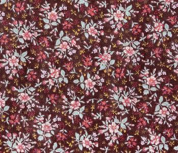 100% Cotton Floral Print Hanna Brown