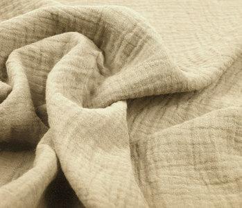 Baumwoll Musselin Stoff Sand