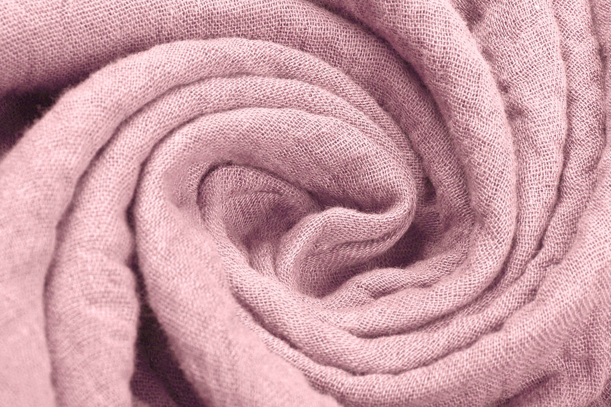 Baumwoll Musselin Altes Rosa