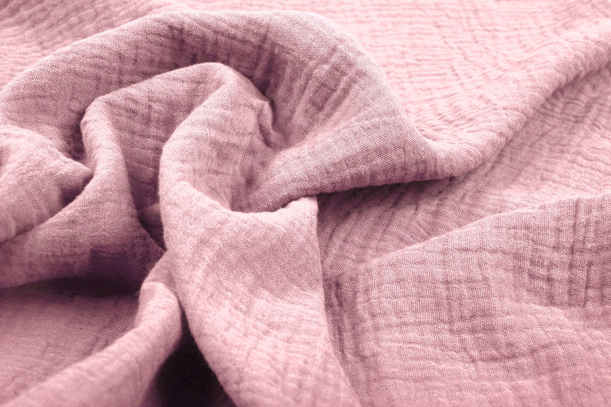 Double Gauze Fabric Old Pink