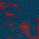 Gebreide Wollen stof Schapenwollook Ruit Petrol Rood