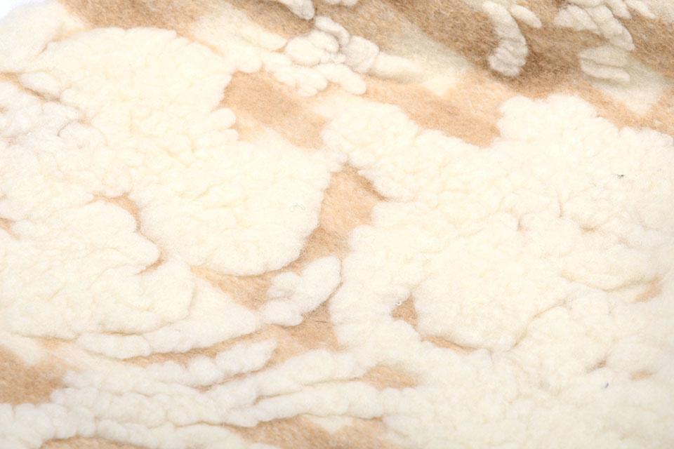 Gebreide Wollen stof Schapenwollook Ruit Beige