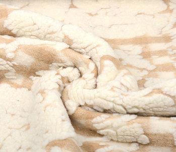 Knitted Woolen fabric Sheep Wool look Diamond Beige