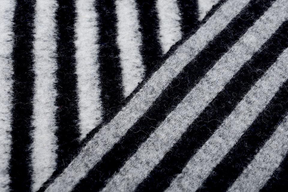 Gebreide Wollen stof Strepen Grijs