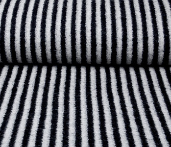 Knitted Woolen fabric Stripes Grey