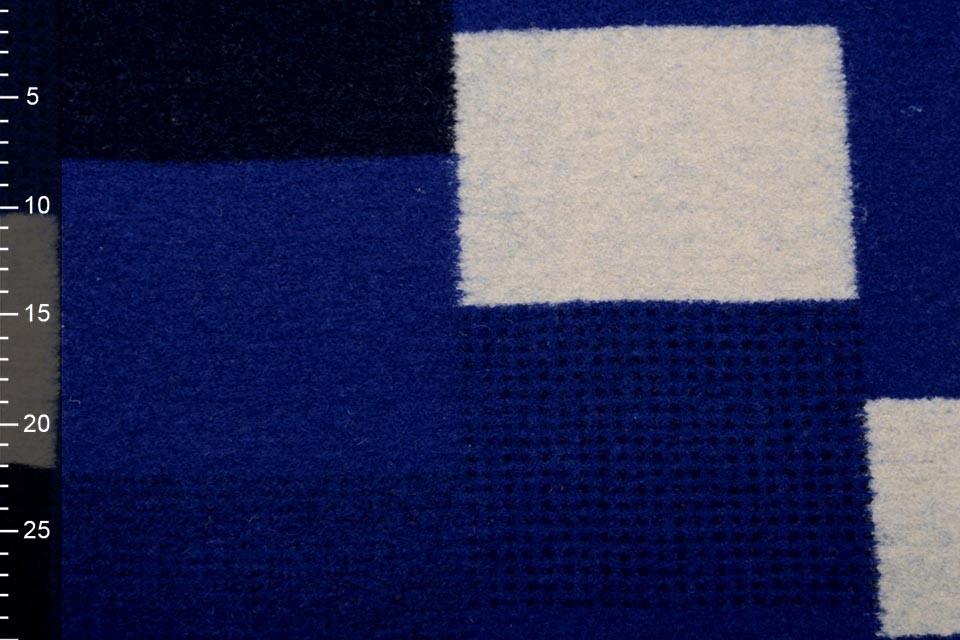 Gestrickter WollStoff Karierte Kobaltblaua