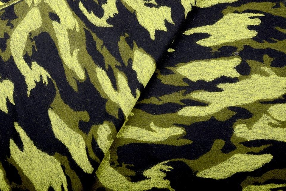 Gestrickter WollStoff Army Gelb