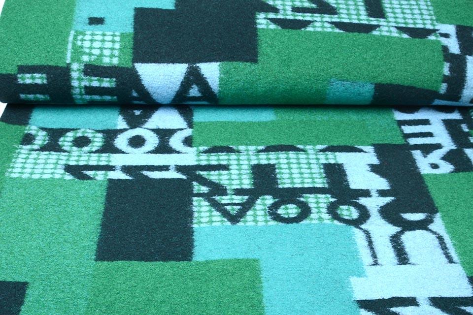 Gebreide Wollen stof Quiltlook Nummers Groen