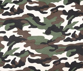 Army Polyester Cotton Dark brown-green