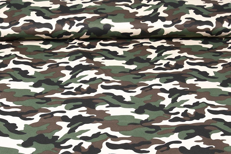 Army Polyester Katoen Donker bruin-groen