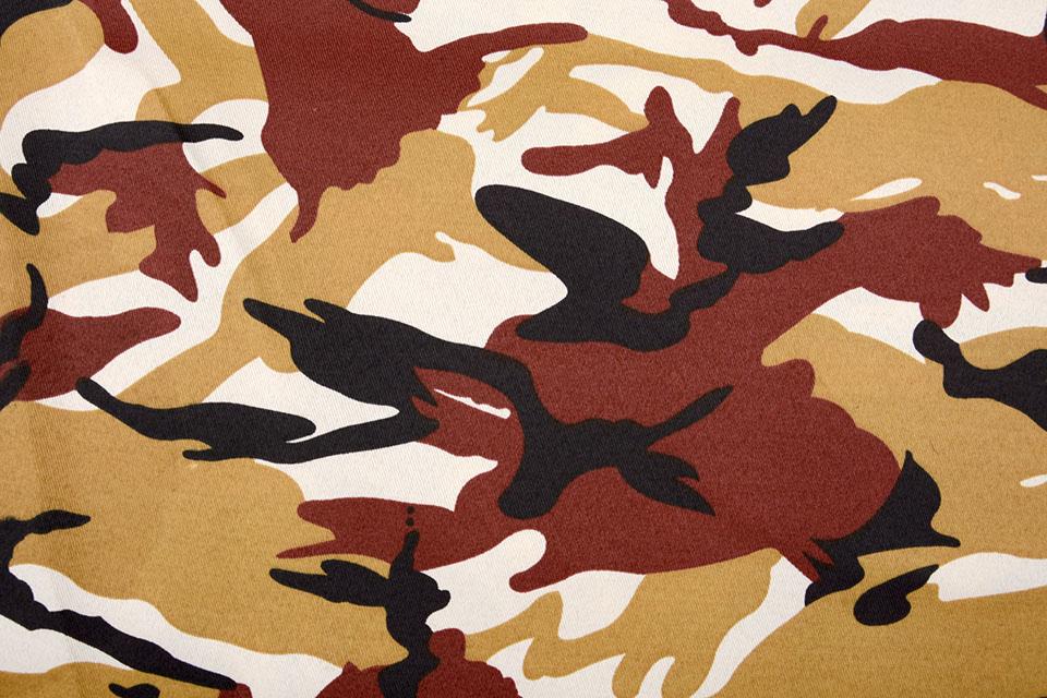 Army Polyester Katoen Oker Rood