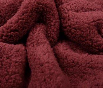 Curly Teddy Dark Red