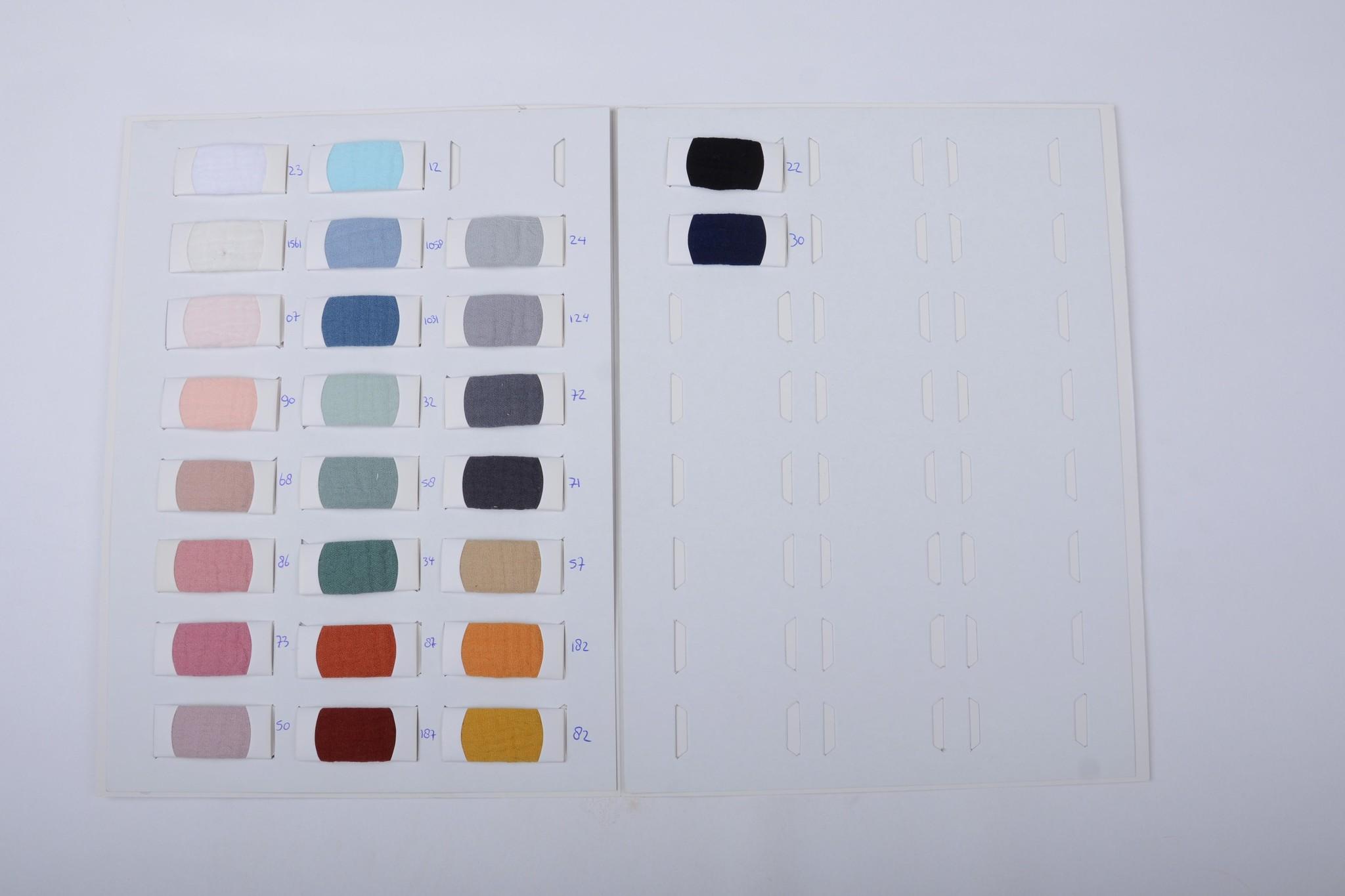 Farbekarte Baumwoll Musselin stoff