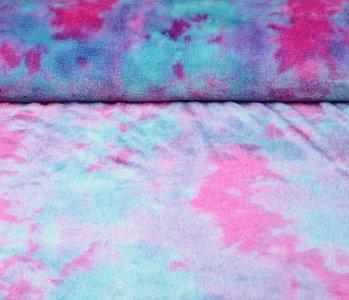 Kurz Zottelplüsch Multicolor Lila Rosa Blau