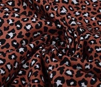100% Baumwolle Pantherdruck Brique