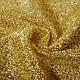 Gestricktes Glitzer Metallic Gold