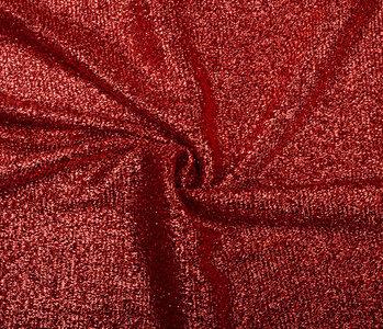 Gestricktes Glitzer Metallic Rot