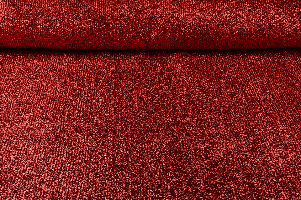 Knitted Glitter Metallic Rood
