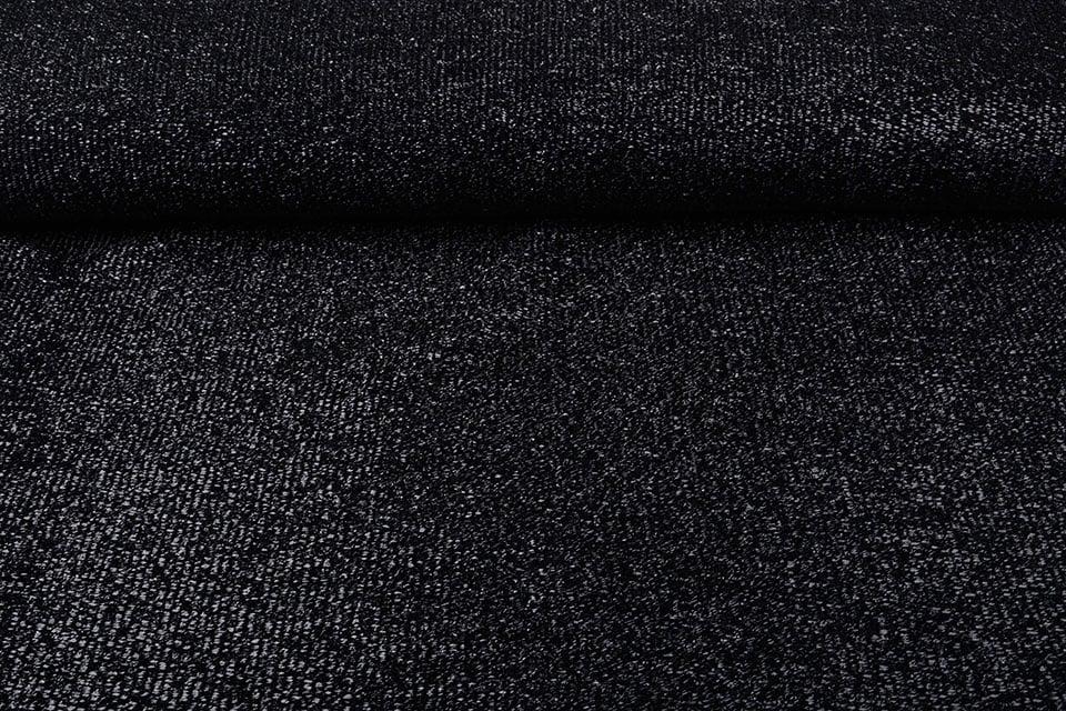 Knitted Glitter Metallic Zwart