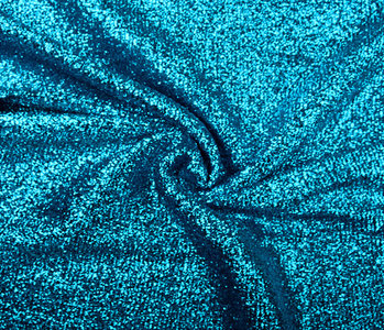 Knitted Glitter Metallic Aqua