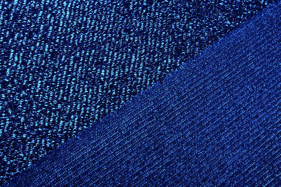 Knitted Glitter Metallic Kobaltblauw