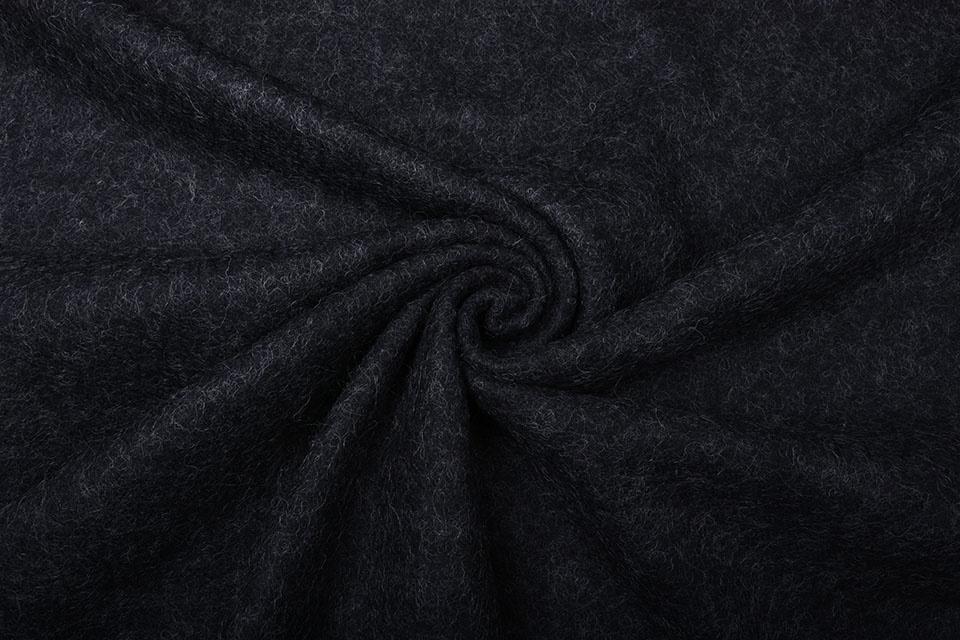 Gekochte Wolle Dunkelgrau