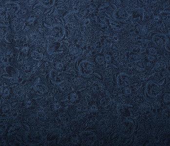 Jacquard Woven Cotton Dark Jeans