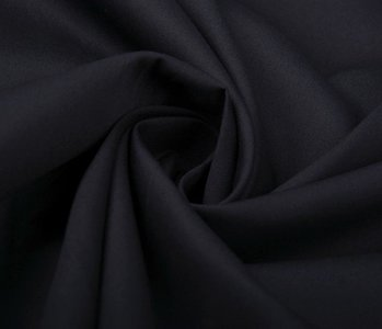 100% Poplin Zwart