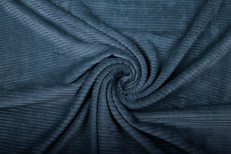 Katoen Gebreid Brede Corduroy Jeans Blauw