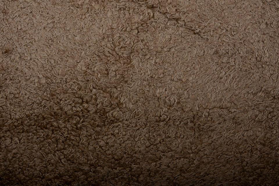 Pelzigen Borgstoff Noa Braun
