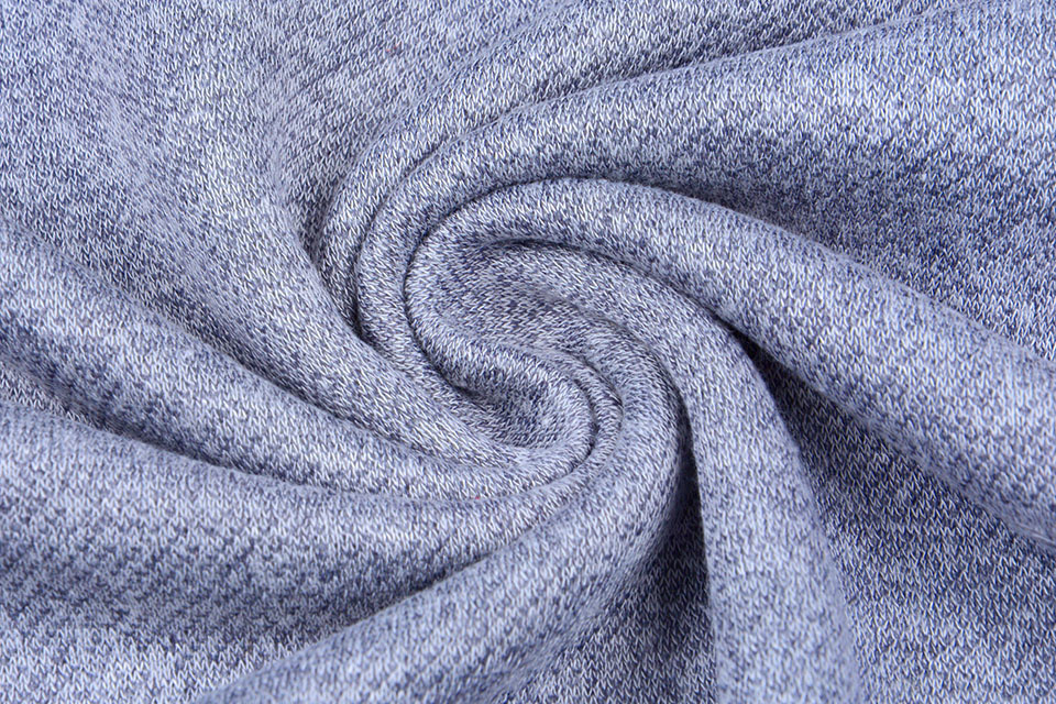 French Terry Sweat Fabric Jeans Melange
