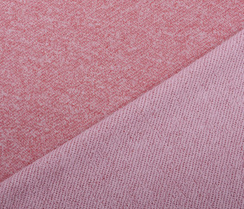 French Terry Sweat Fabric Light Wine Red Melange