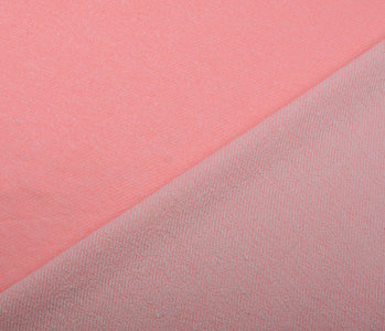 French Terry Sweat Fabric Fluor Pink Melange