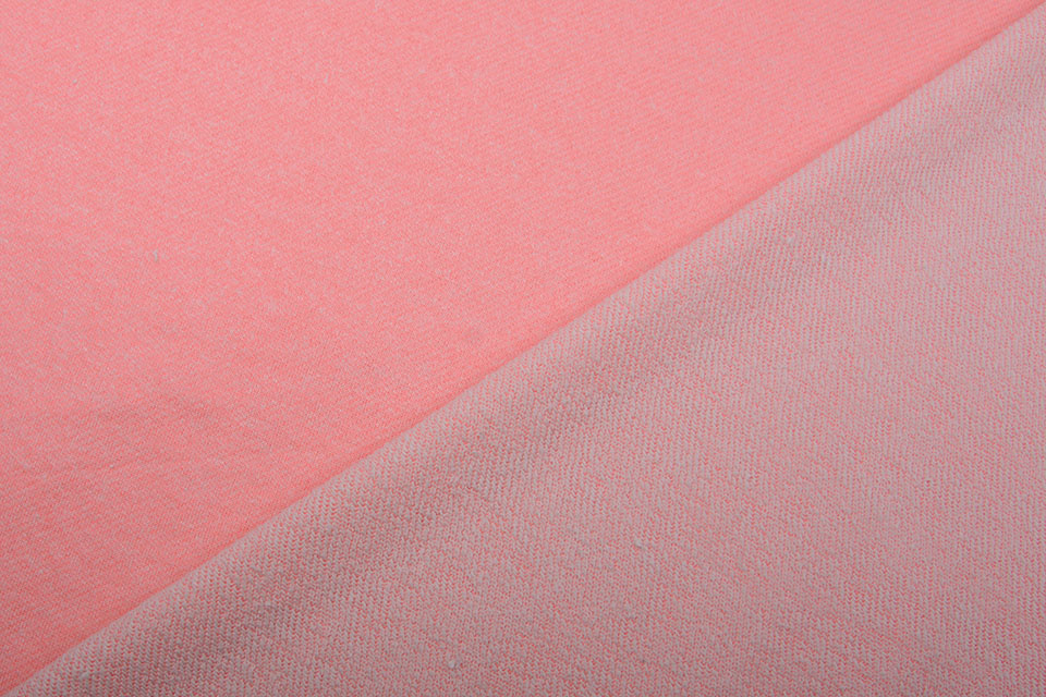 French Terry Sweatstof Fluor Roze Melange