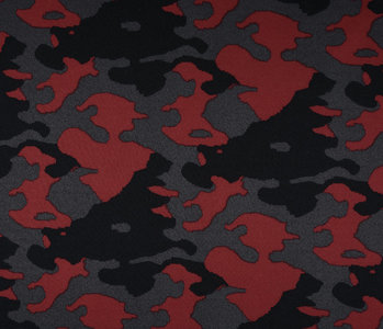 Jogging Camouflage Donker rood