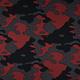 Jogging Camouflage Donker rood