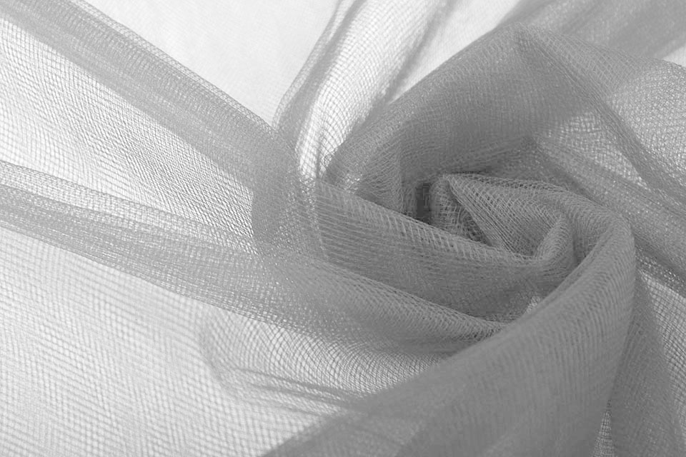 Braut Tüll Silver Grau