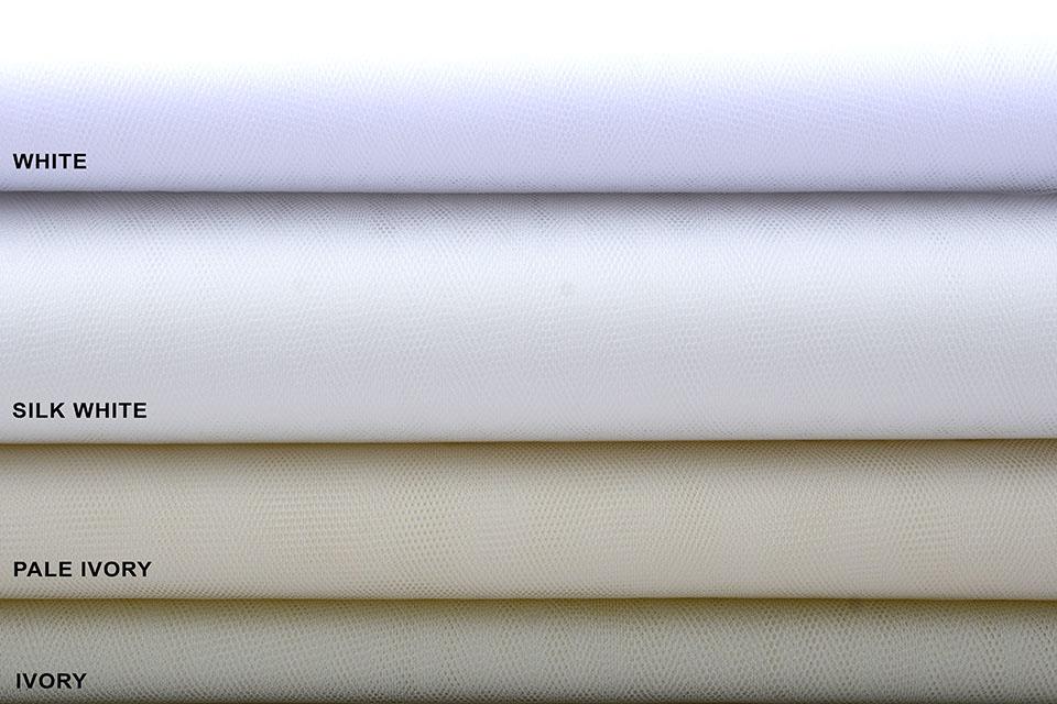 Braut Tüll Silk White