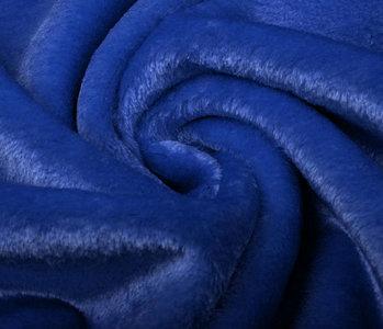 Kurzhaariges Teddystoff Königs Blau