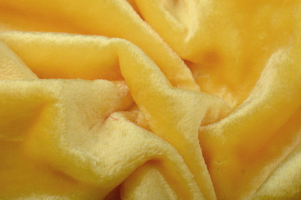 Karneval-Pelz Zitronengelb