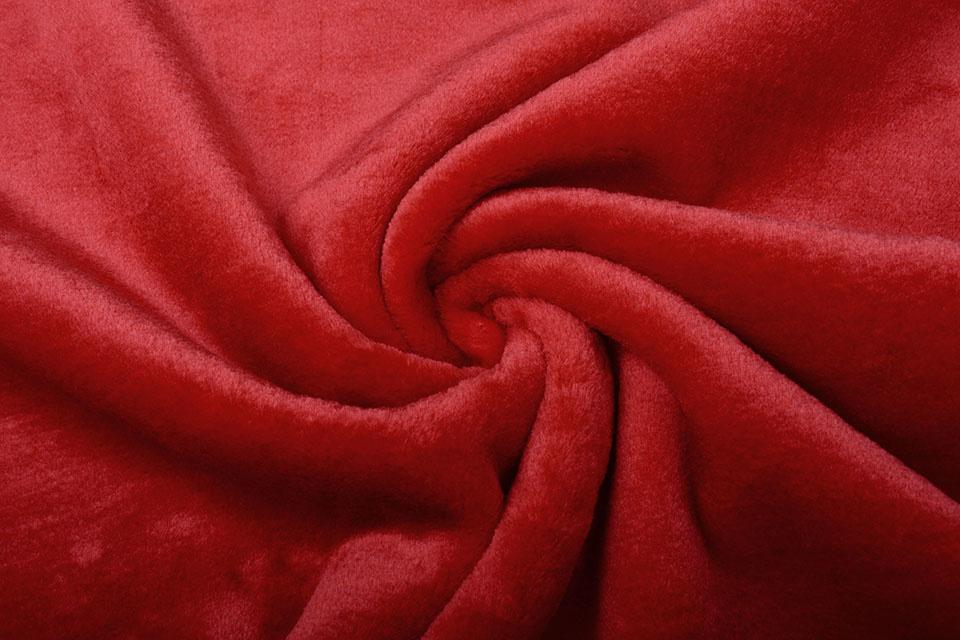 Kurzhaariges Teddystoff Rot