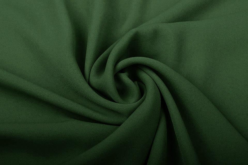 Crêpe Georgette Donker groen