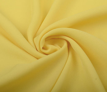 Crêpe Georgette Citron Yellow