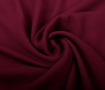 Crêpe Georgette Wine red